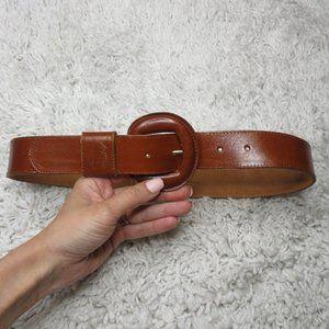 Omega english bridle leather waist belt sz S